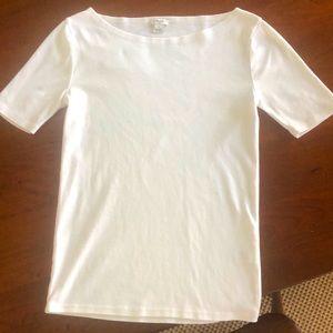 J. Crew Boatneck White T-shirt